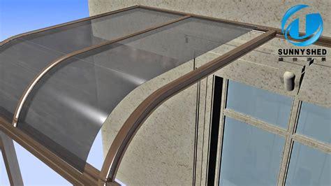 build terrace awning  aluminum frame youtube