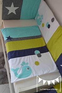 Tour De Lit Bleu Marine : couverture b b baleine toiles vert anis bleu turquoise bleu marine gris blanc linge lit b b ~ Teatrodelosmanantiales.com Idées de Décoration