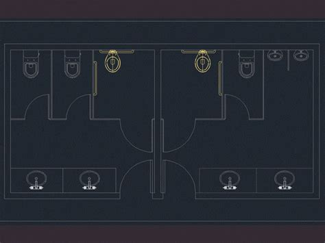 public bathroom dwg block  autocad designs cad