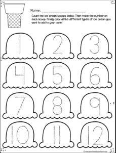 free summer number worksheets preschool play and learn