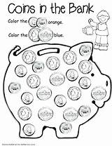 Money Coloring Pages Fake Coin Coins Worksheets Printable Getdrawings Getcolorings sketch template