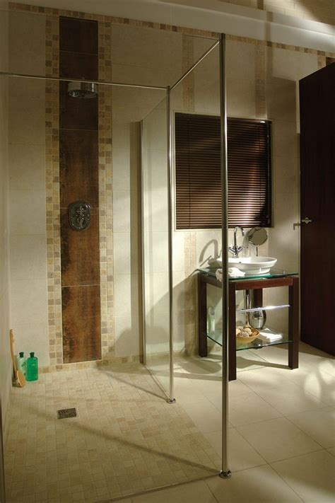 universal shower handicap accessible roll  shower home