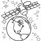 Coloring Satelite Satellite 36kb 842px sketch template