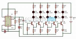 Bike Turning Signal Indicator Circuit Using 555 Timer