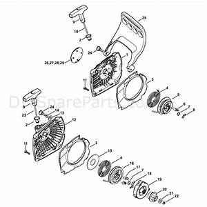 Stihl Ms 231 Chainsaw  Ms231c  Parts Diagram  Rewind