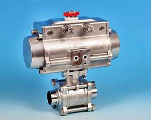 Actuated Ball Valve 3 D End Connections Stainless Steel Kv