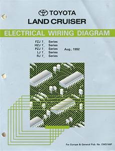 1992 Toyota Landcruiser Electrical Wiring Diagram Workshop