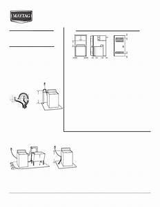 Maytag Mvwb750wb Dimension Guide User Manual