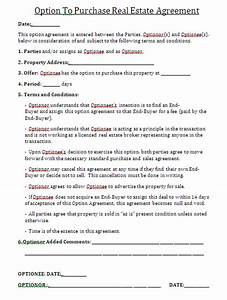 what is an option contract in real estate trading oil With real estate option agreement template
