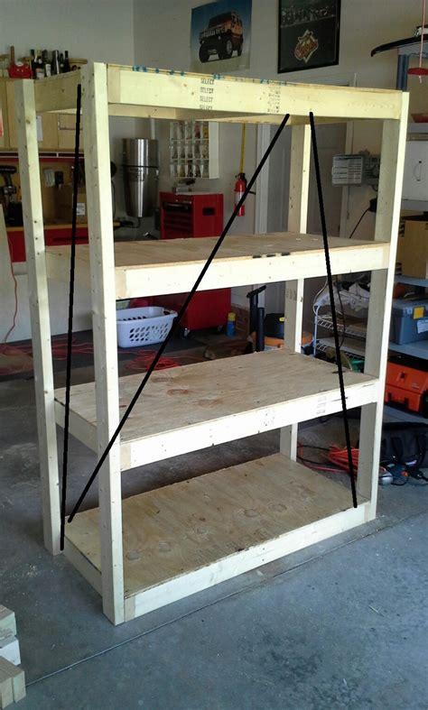 simple garage shelfone  sheet  plywood  ten