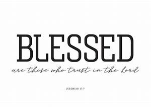 Blessed Are Those Who Trust In The Lord Jeremiah 177