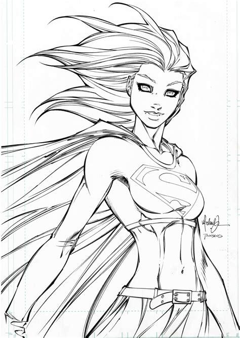 supergirl drawing    ayoqq cliparts