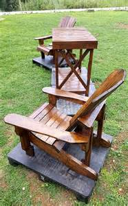 pallet adirondack chair and table set pallet furniture diy