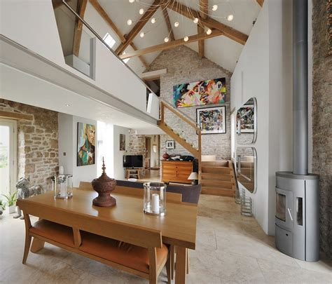 beautifully restored barn conversion  somerset uk barn conversion interiors