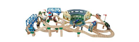 tidmouth sheds deluxe set fisher price the wooden railway