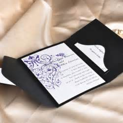 wedding pocket invitations vintage purple chandelier wedding invitation with black pocket ewpi001 as low as 1 69