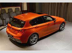 Valencia Orange BMW M135i On Display At Abu Dhabi Showroom