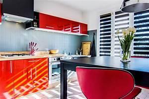 cuisine moderne rouge With meuble de cuisine en bois rouge 1 cuisine rouge 10 bonnes raisons de craquer marie claire