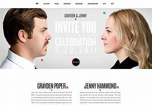 25 wonderful wedding websites webdesigner depot With wedding video website