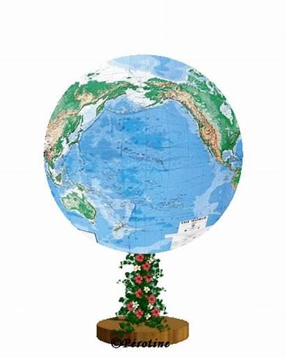 Globe Terrestre Tournant Tourne Qui Giphy Wattnewis