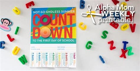 Back-to-school Countdown Poster Printable