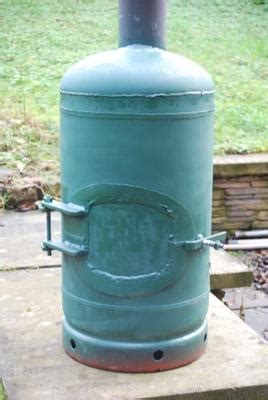 homemade wood stove   gas cylinder