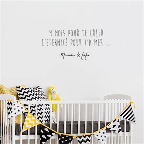 stickers phrase chambre bébé sticker texte enfant autocollant citation pour chambre