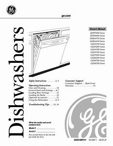 Ge Monogram Edw5000 Dishwasher User Manual