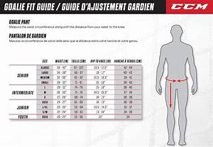 Hockey Stick Size Chart Player Goalie Pant Sizing Guide South Windsor Arena