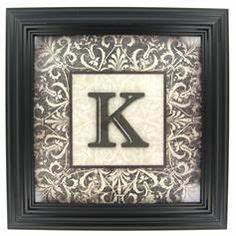 framed letters on pinterest burlap ribbon wall hangings With letter k picture frame