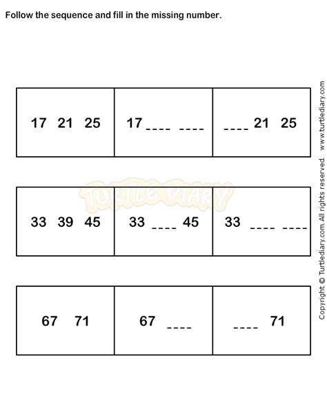 number sequence worksheet 6 math worksheets
