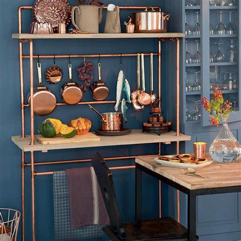 cuisine customiser bricoler une desserte de cuisine en bois et en cuivre