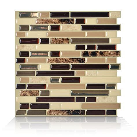 smart tiles peel and stick bellagio mosaik smart tiles 1 10 13 inch x 10 inch peel and stick