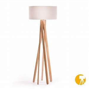Stehlampe Weißer Schirm : design stehlampe tripod leuchte buche holz lampe h 160cm stativ stehleuchte wei for sale eur ~ Indierocktalk.com Haus und Dekorationen