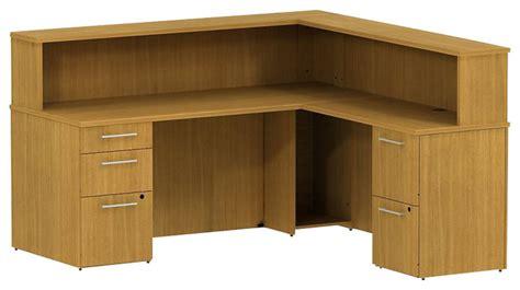 reception desk hutch bush 300 series 72 quot l shape reception desk with hutch in
