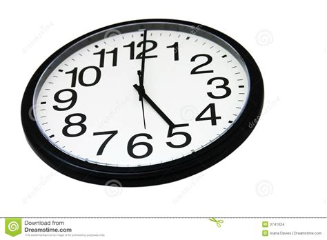 horloge de bureau horloge de mur de bureau d 39 isolement images stock image