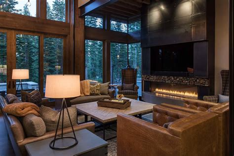 interior designed homes lake tahoe getaway features contemporary barn aesthetic
