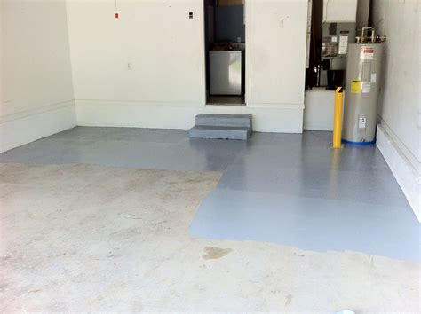 prep  garage floor  apply epoxy