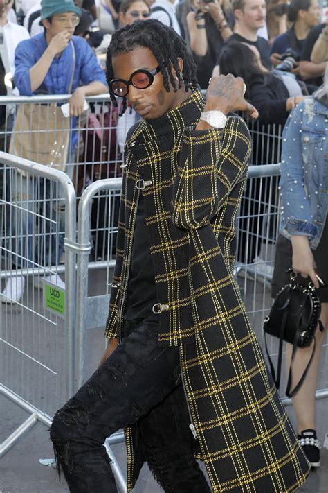 rapper playboi carti arrive    white menswear
