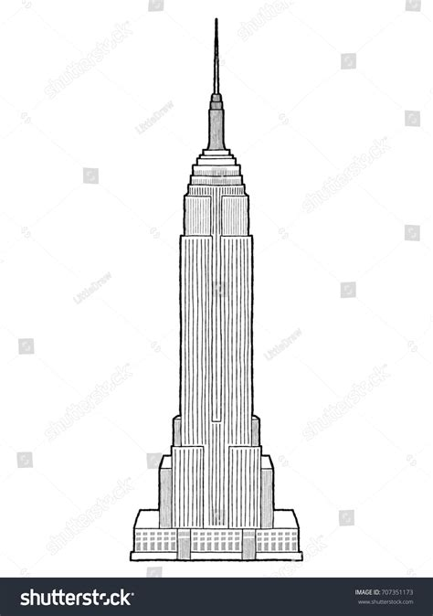 Empire State Building Manhattan New York Stock Vector