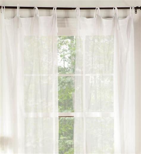 bed frame draperies pair of 40 quot w x 63 quot l tie top cotton