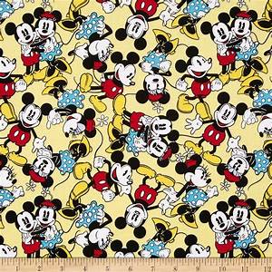 Disney Micky Mouse & Minnie Mouse Tossed Yellow - Discount