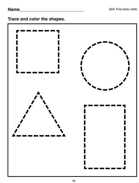 basic shapes worksheets for kiddo shelter