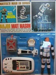 MATTEL: 1966 Major Matt Mason Action Figure with Space ...