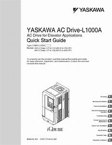 Yaskawa L1000a Manuale Start Guide By Data Movilift