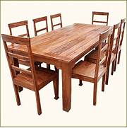 Oak Dining Table Chairs by 9 Pc Solid Wood Rustic Contemporary Dinette Dining Room Table Chair Set Furni