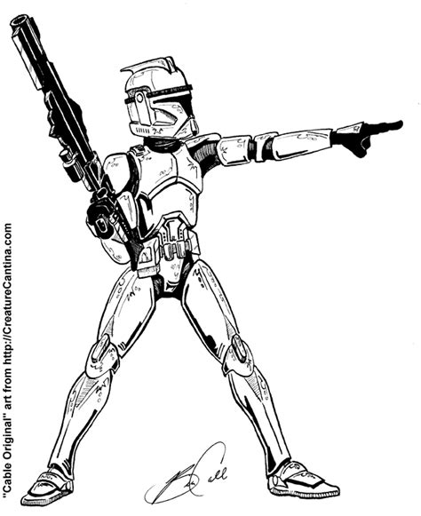 Clone Trooper Kleurplaat by Clone Trooper Coloring Pages Coloring Pages For Free