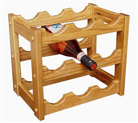 amish hardwood wine rack