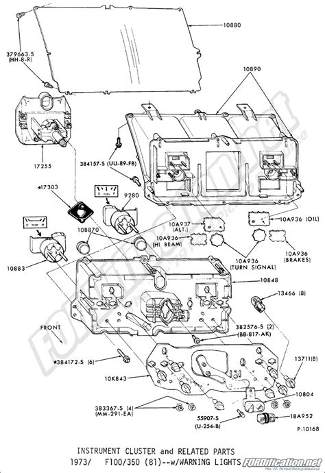 79 Ford F100 Light Wiring Diagram by Ford Truck Part Numbers Instrument Panel Fordification Net