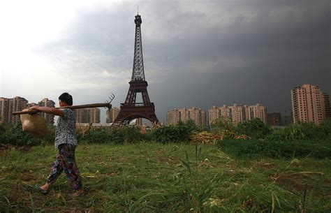 eiffel tower standing l scenes from 21st century china